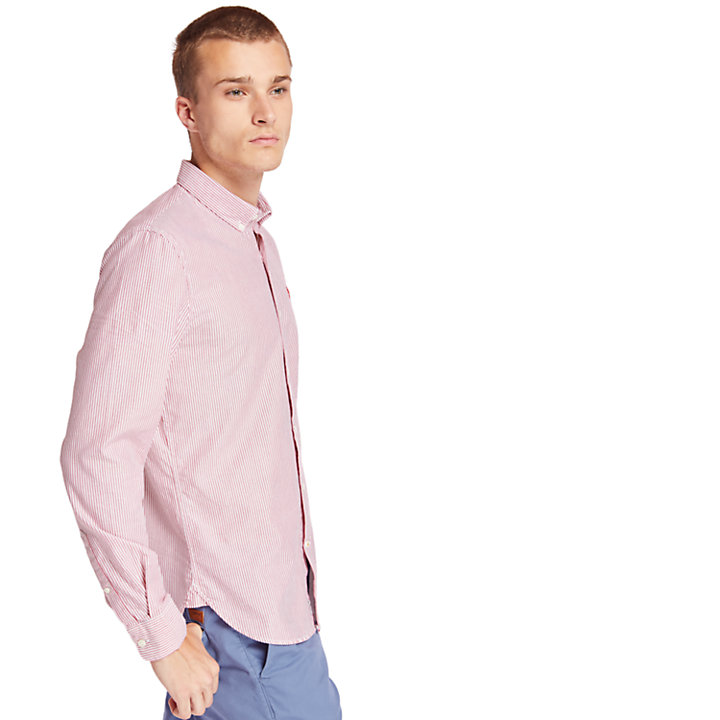 Ela River Striped Shirt for Men in Red-