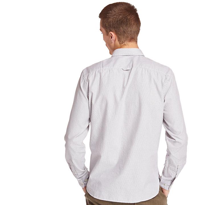 Chemise à rayures Ela River homme en gris-