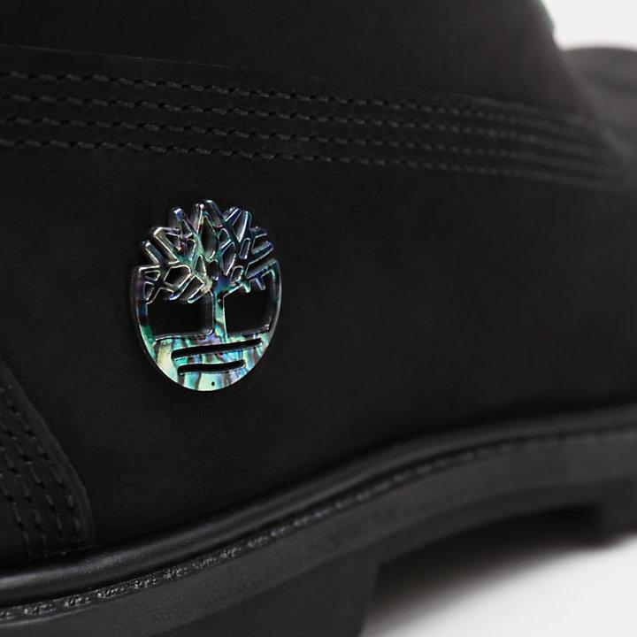 Bota 6 Inch Iridescent Premium para Mulher em preto-