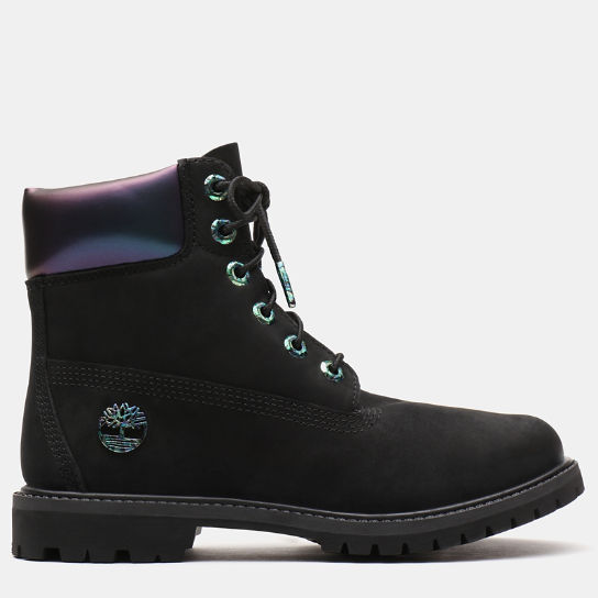 6 Inch Iridescent Premium Boot for Women in Black | Timberland