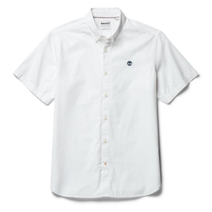 Ela River kurzärmeliges Oxfordhemd für Herren in Weiß-