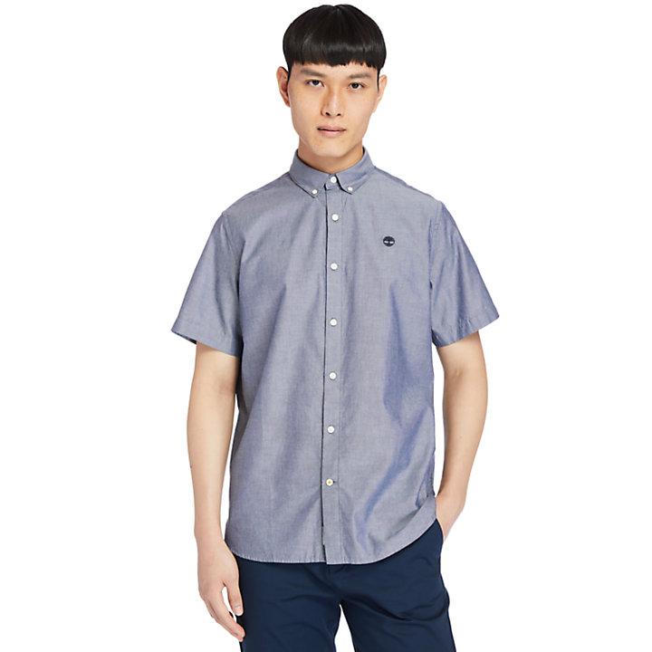 Chemise oxford à manches courtes Ela River pour homme en bleu marine-