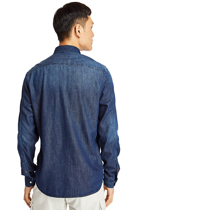 Mumford River Denim Shirt for Men in Indigo-