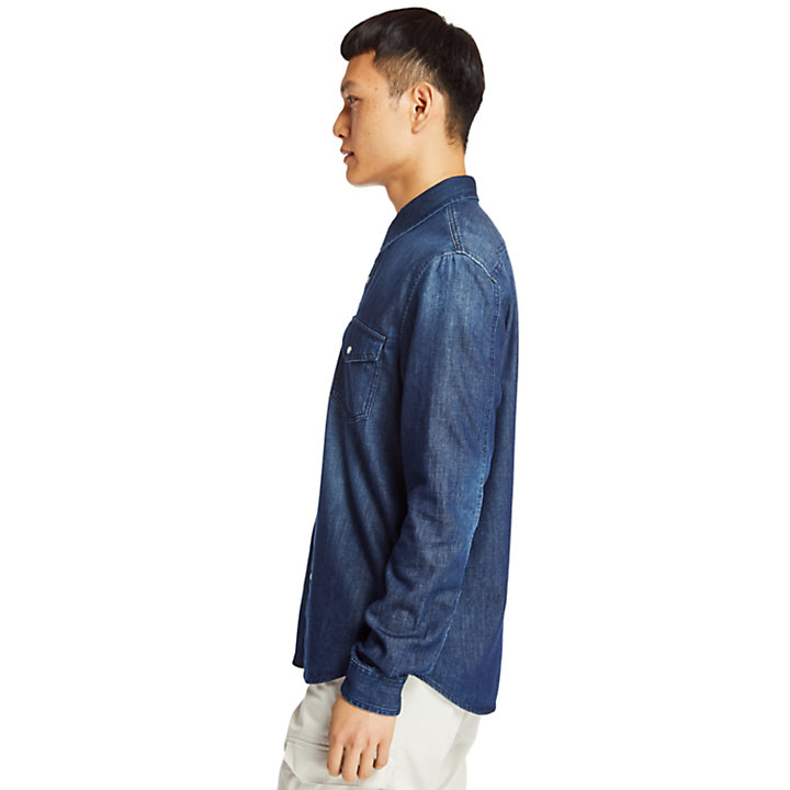 Mumford River Denim Overhemd voor Heren in indigo-