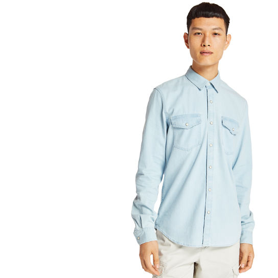 Mumford River Denim Shirt for Men in Light Blue | Timberland