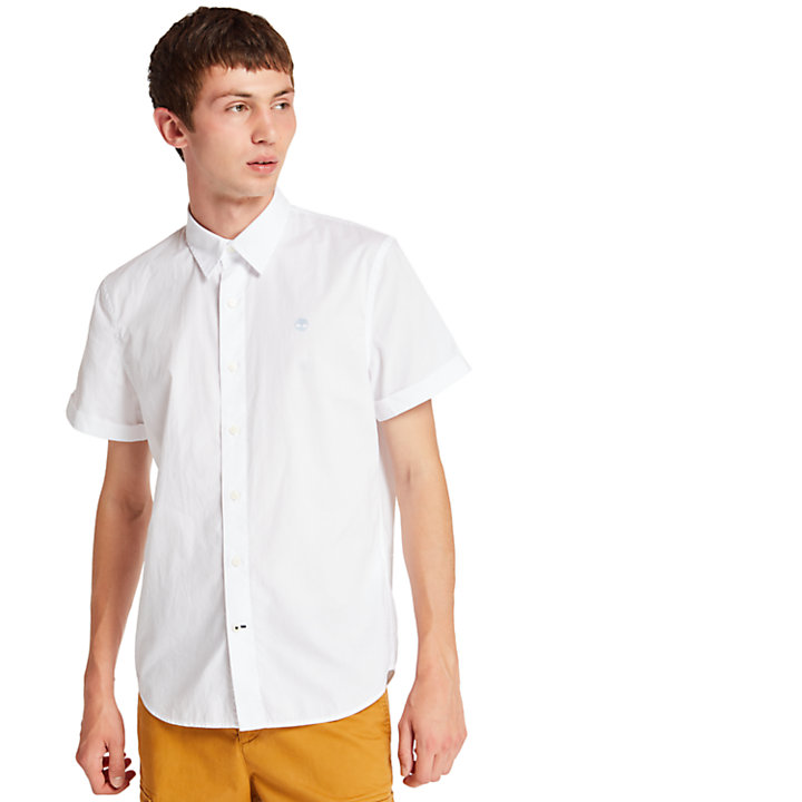 Eastham River Shirt for Men in White-