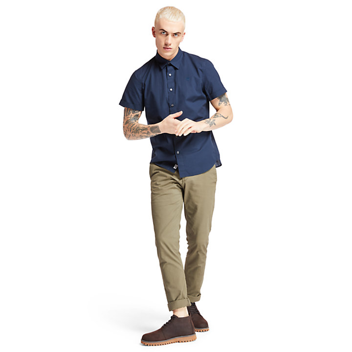 Eastham River Shirt for Men in Navy-