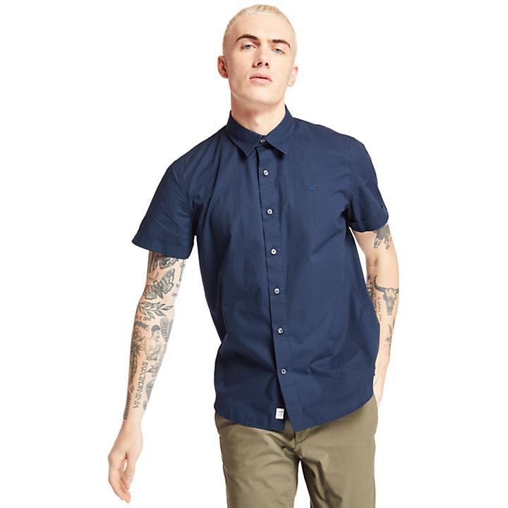 Camicia da Uomo Eastham River in blu marino-