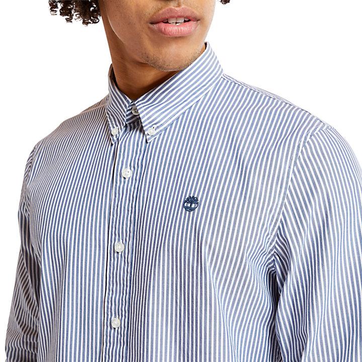 Camicia da Uomo a Righe Saco River in indaco-