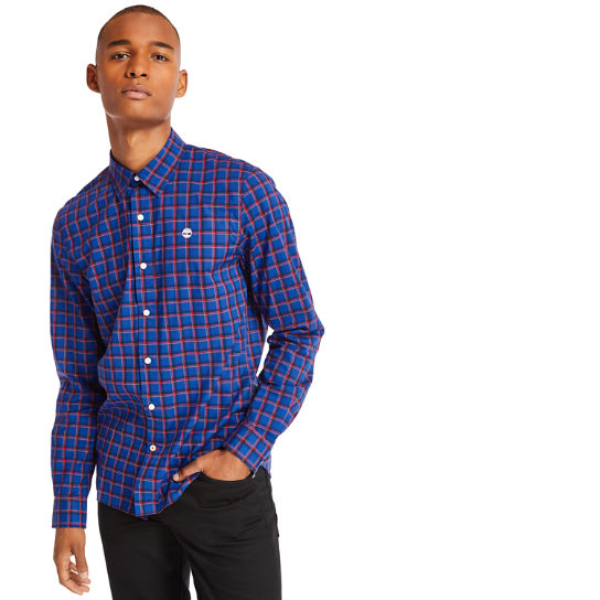 Camicia a Quadri da Uomo in Cotone Eastham River in blu scuro | Timberland