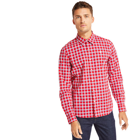 Eastham River Cotton Check Shirt for Men in Red | Timberland