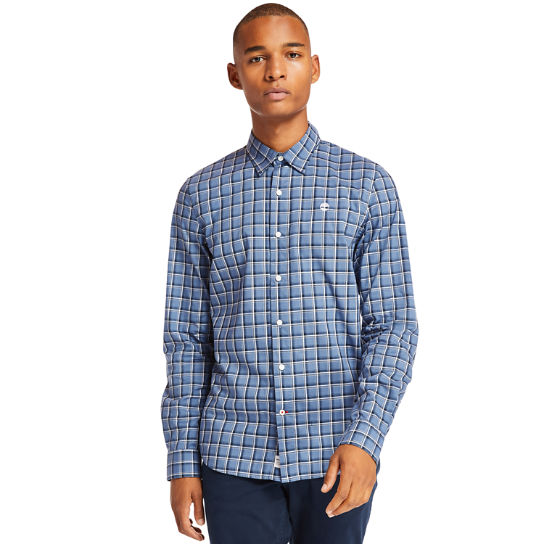Eastham River Cotton Check Shirt for Men in Blue | Timberland