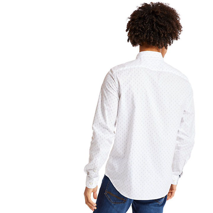 Chemise Eastham River Leaf pour homme en blanc-