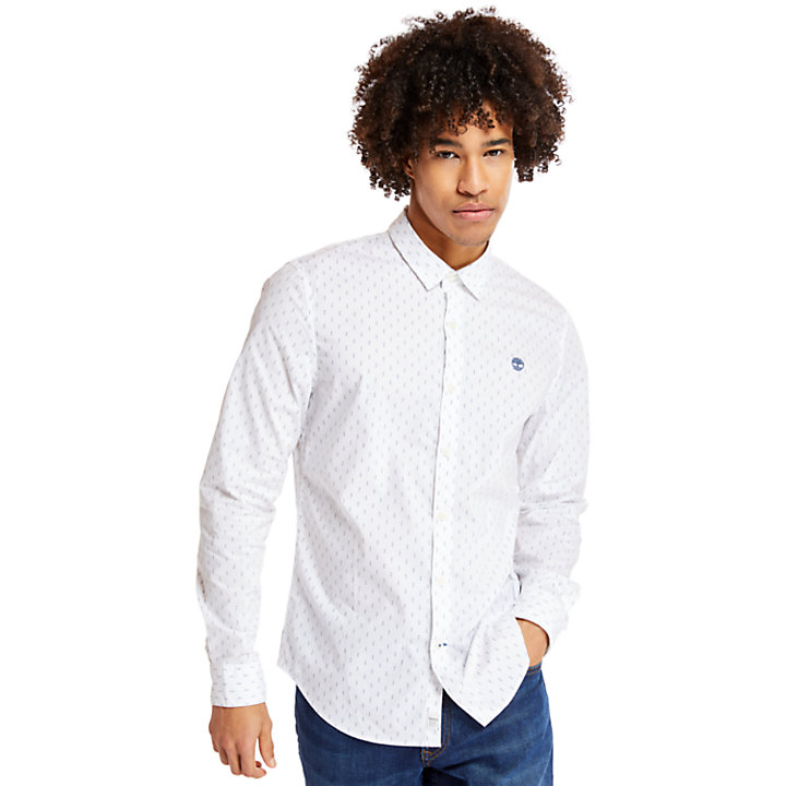 Eastham River Leaf Hemd für Herren in Weiß-