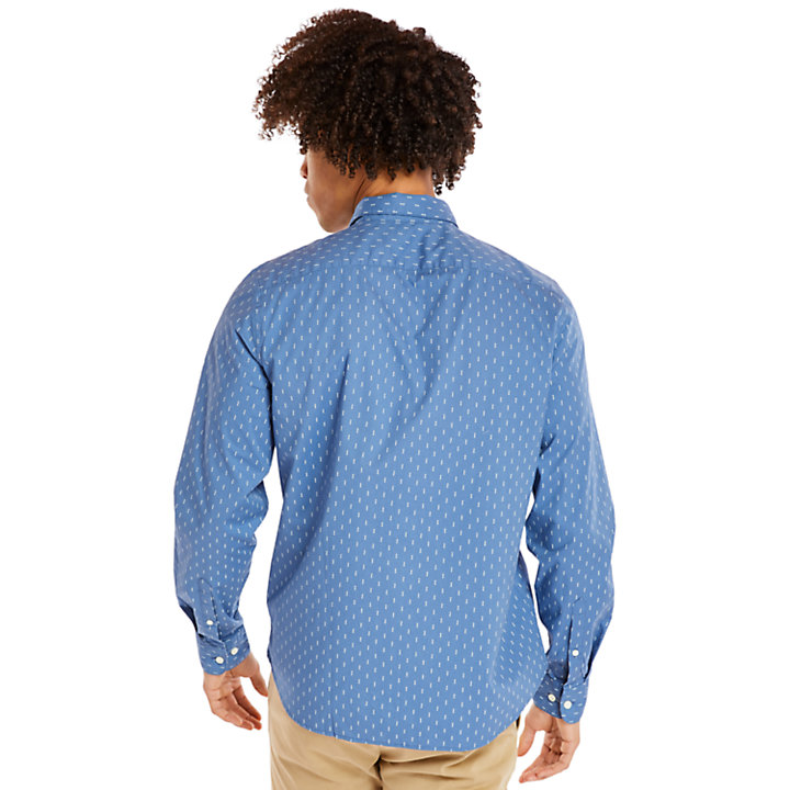Eastham River Leaf Shirt for Men in Blue-