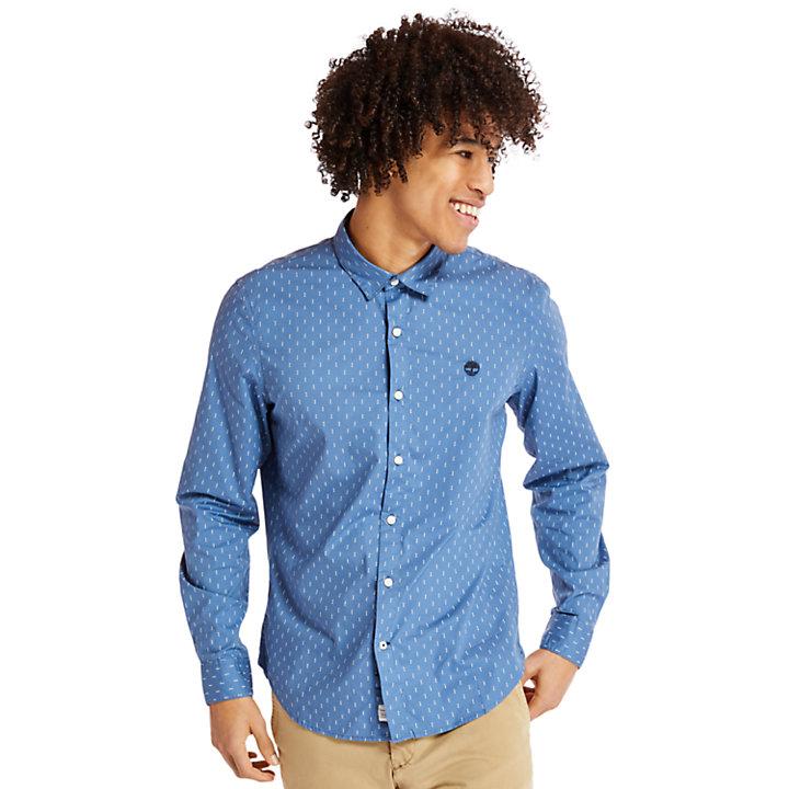 Camicia da Uomo Eastham River Leaf in blu-