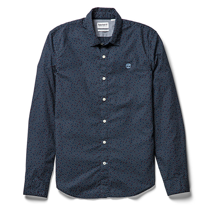 Eastham River Spot Shirt for Men in Navy-