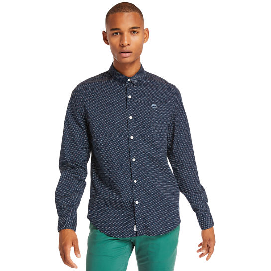 Eastham River Spot Shirt for Men in Navy | Timberland