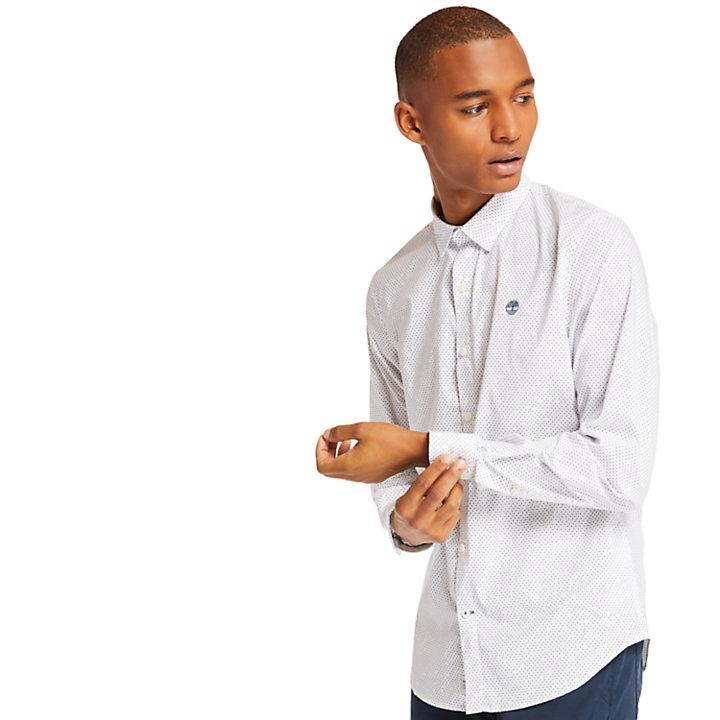 Chemise à pois Eastham River homme en blanc-