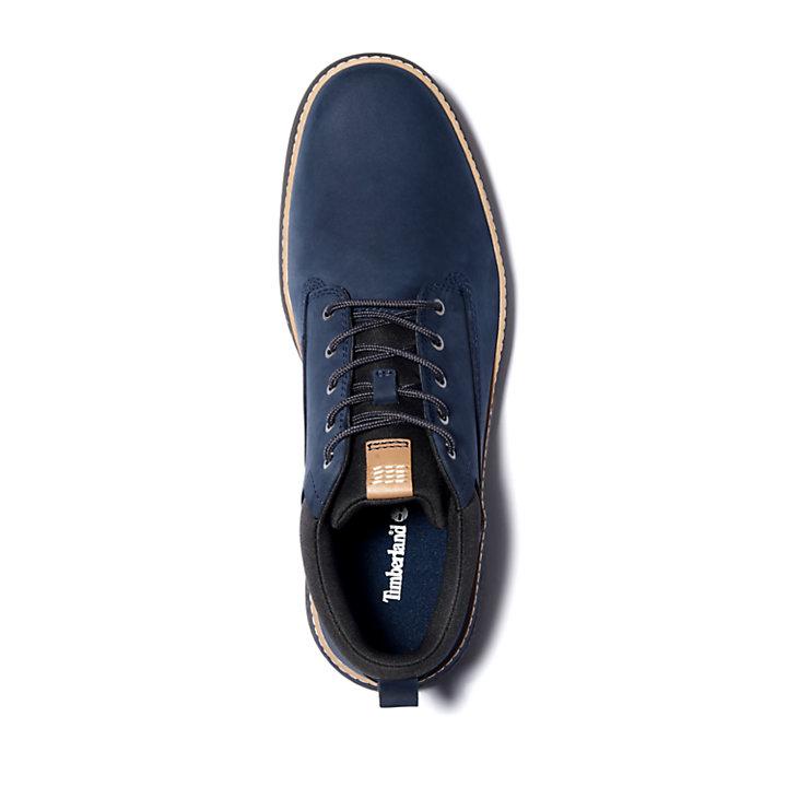 Chukka Plain Toe da Uomo Cross Mark in blu marino-