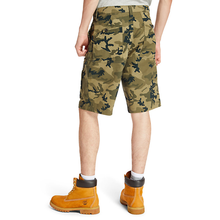 Tarleton Lake Cargo Shorts for Men in Green Camo-