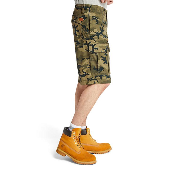 Pantalón Corto Cargo Tarleton Lake para Hombre en camuflaje verde-