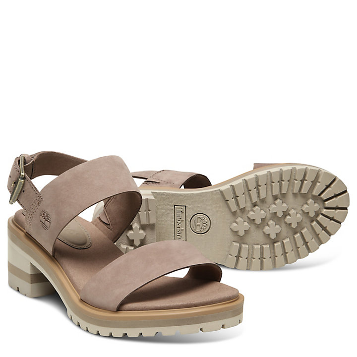 Violet Marsh Strap Sandal for Women in Taupe-