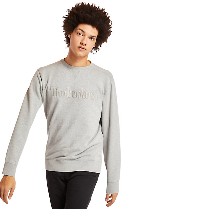 Exeter River Crew Sweatshirt for Men in Grey-