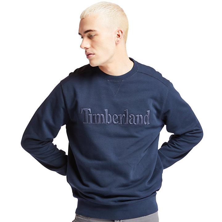 Exeter River Crew Sweatshirt for Men in Navy-