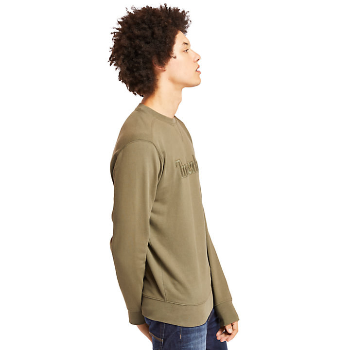 Exeter River Crew Sweatshirt for Men in Green-