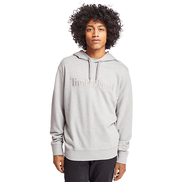 Exeter River Cotton Hoodie for Men in Grey-