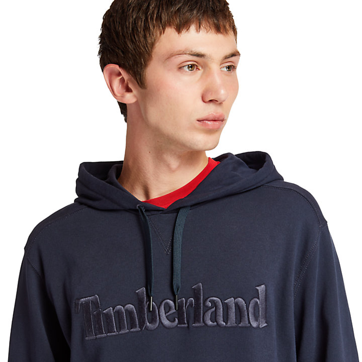 Exeter River Cotton Hoodie for Men in Navy-
