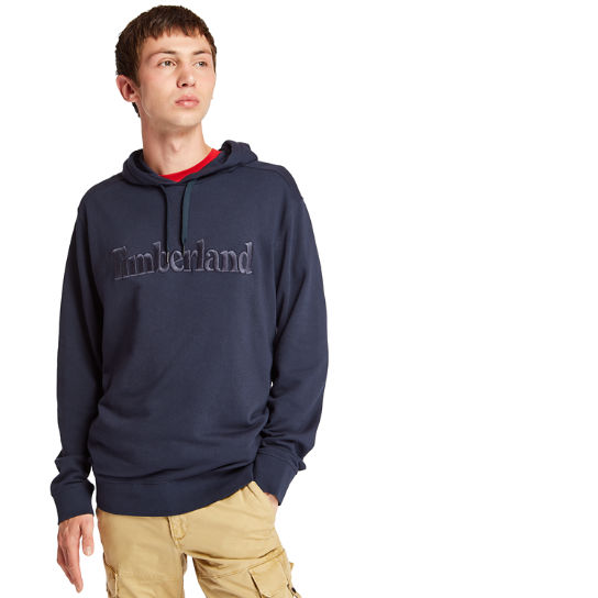 Exeter River Cotton Hoodie for Men in Navy | Timberland