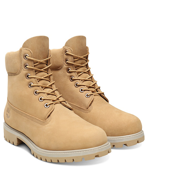 Premium 6 Inch Boot for Men in Beige-