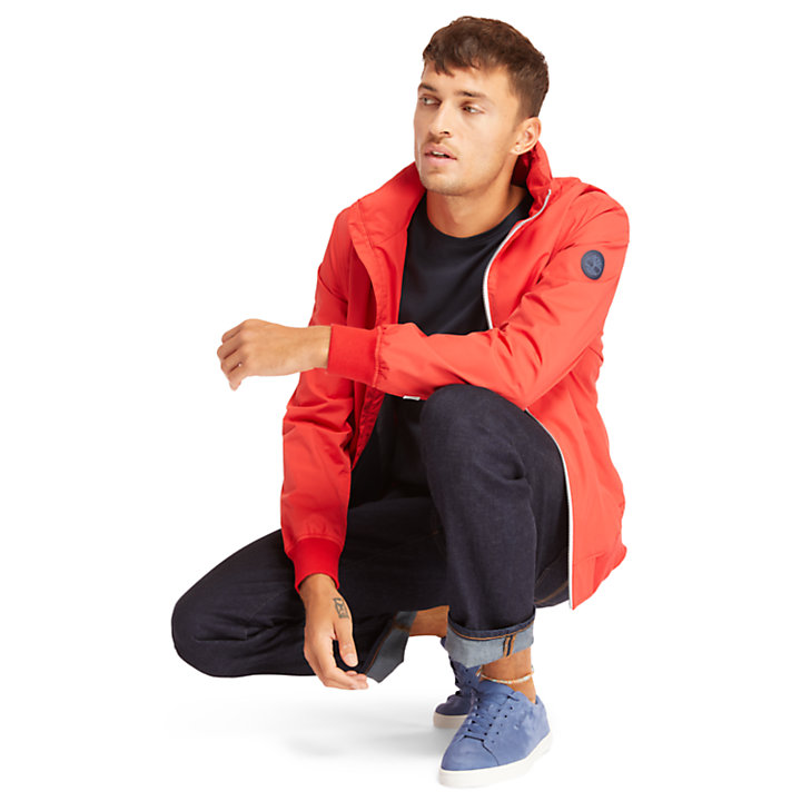 Kearsage Sailor Bomber Jacket for Men in Red-