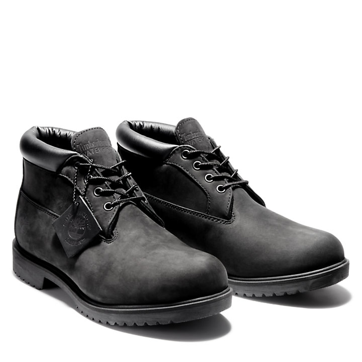 Chukka premium classique pour homme en noir-