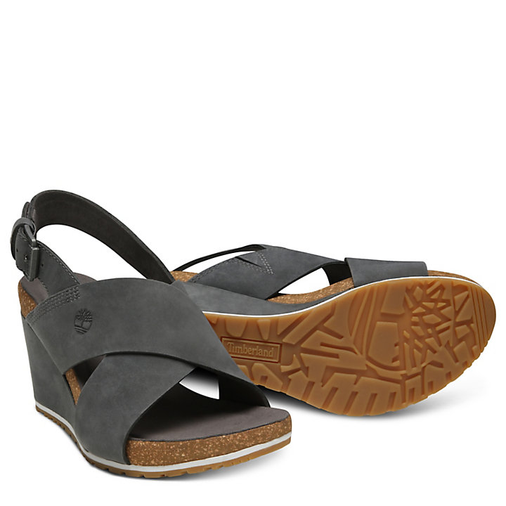 Capri Sunset Sandal for Women in Dark Grey-