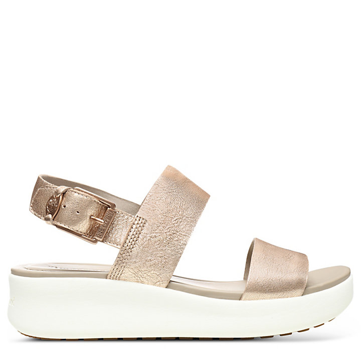 Sandale Los Angeles Wind pour femme en or rose-