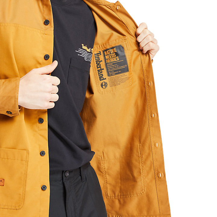 Mascoma River Overshirt for Men in Yellow-