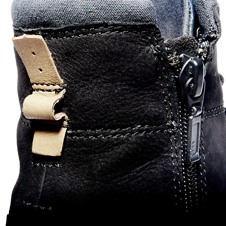 Bottine Brooklyn zippée sur le côté pour homme en noir-