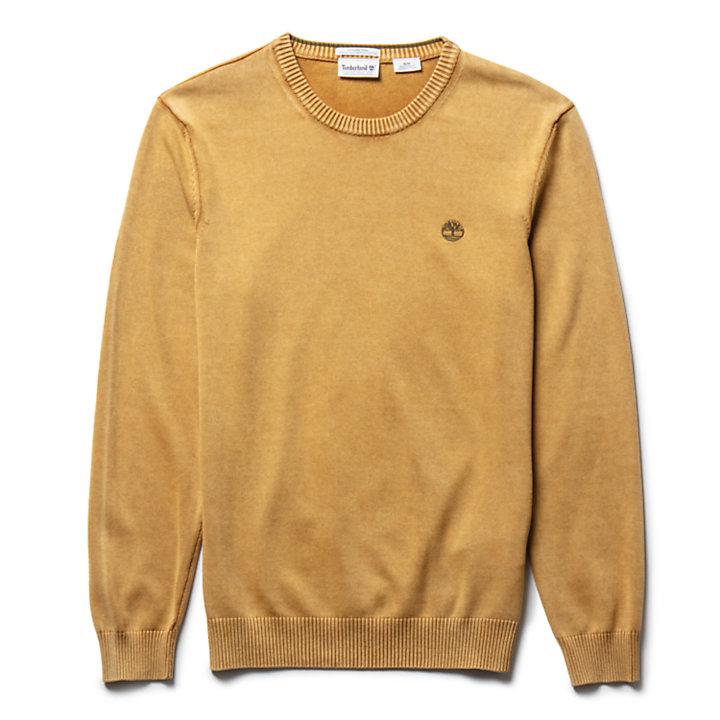Organic Cotton Sweater voor Heren in geel-