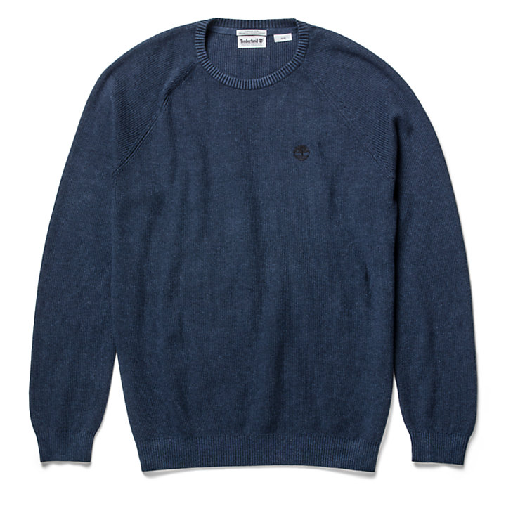 Stocker Brook Cotton Sweater in marineblauw-