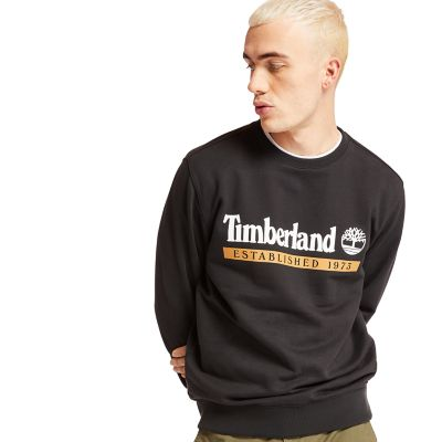 Established+1973+Sweatshirt+voor+Heren+in+zwart