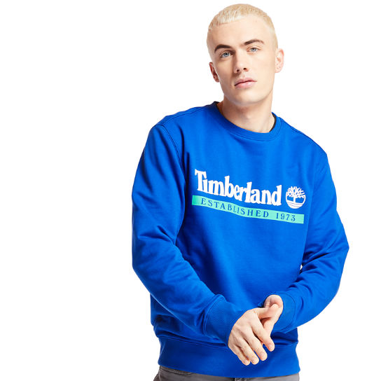 Established 1973 Sweatshirt for Men in Blue | Timberland
