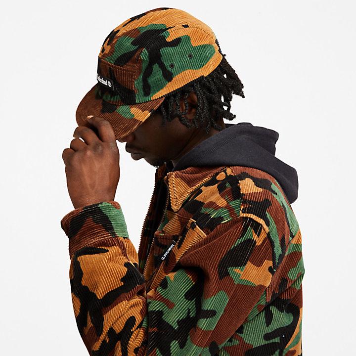 Corduroy Chore Jacket for Men in Camo-