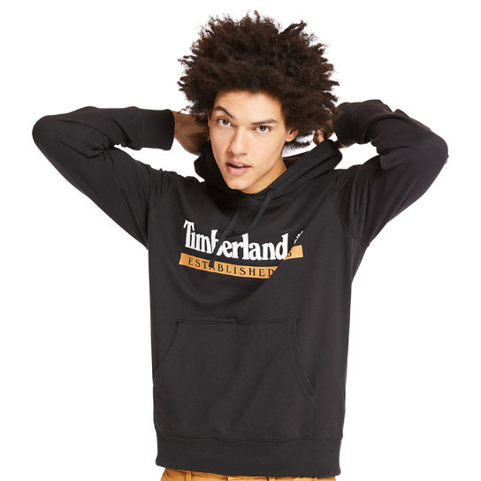 'Established 1973' Hoodie for Men in Black | Timberland