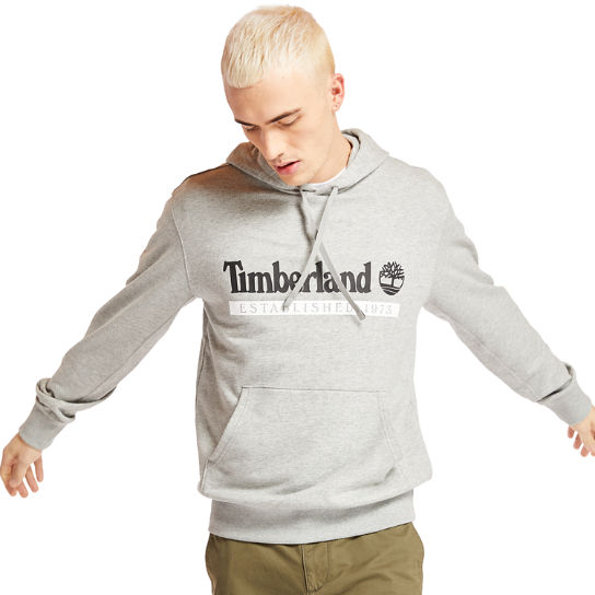 'Established 1973' Hoodie for Men in Grey | Timberland