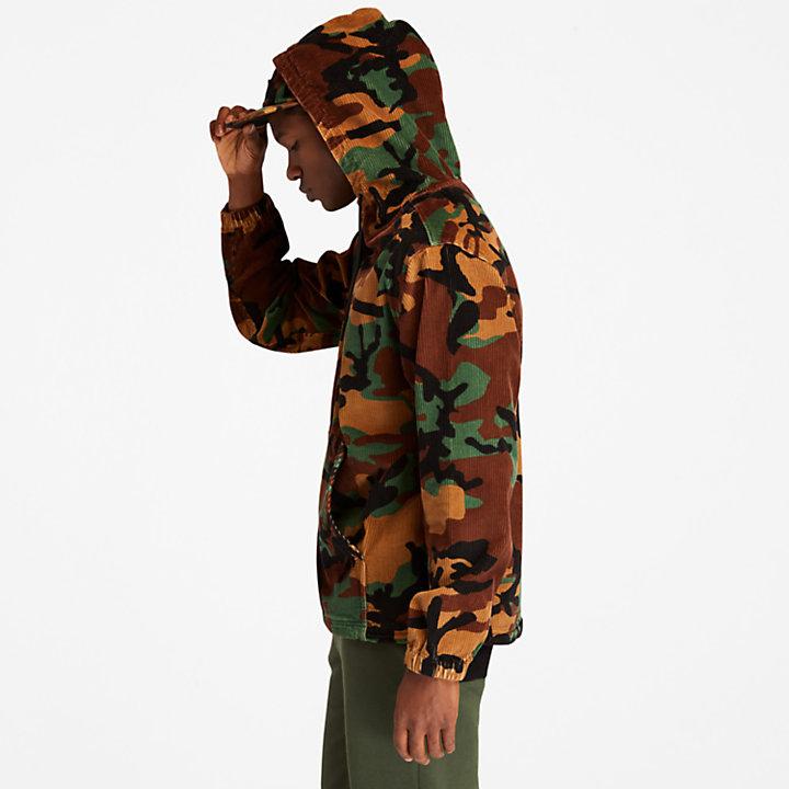 Sudadera con Capucha de Pana para Hombre en camuflaje-