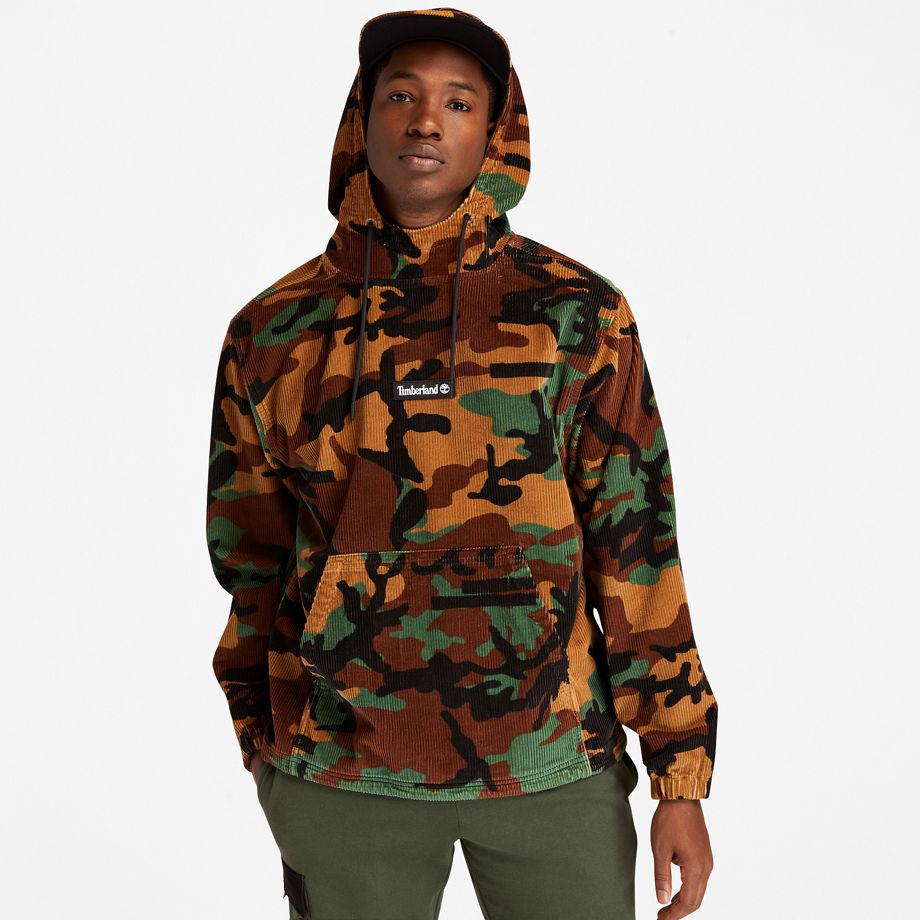 Sweat À Capuche En Velours Côtelé En Camouflage Camouflage, Taille L - Timberland - Modalova