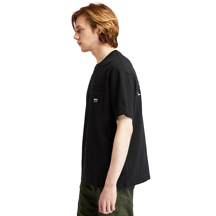 1973 T-Shirt mit Grafik am Rücken für Herren in Schwarz-